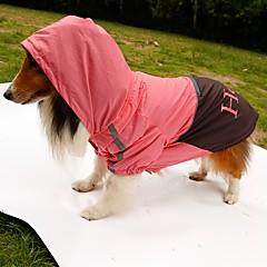 honden Regenjas Hondenkleding Zomer Lente/Herfst Letter & Nummer Waterdicht Oranje Geel Groen Roze