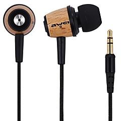 AWEI Q9 Hörlurar (öronsnäcka)ForMediaspelare/Tablett Mobiltelefon DatorWithBruskontroll