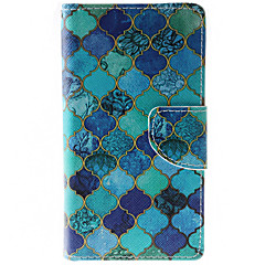 Blue Diamond Pattern PU Leather Full Body Case with Stand and Card Slot for HTC Desire 626