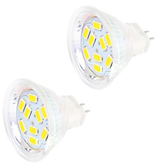 2PCS MR11 9LED SMD5730 4W  DC12V 400LM Warm White / Cool White  Decorative