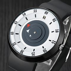 Мужской Модные часы Уникальный творческий часы / Кварцевый Pезина Группа Повседневная Черный Коричневый