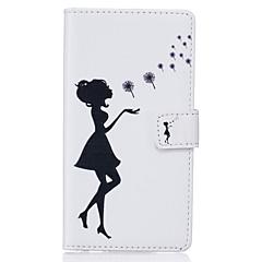 Varten Samsung Galaxy S7 Edge Korttikotelo / Lomapkko / Tuella / Flip / Kuvio Etui Kokonaan peittävä Etui Seksikäs nainen Pehmeä Tekonahka