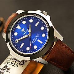 YAZOLE® Brand Men's Dress Watch / Wrist watch Quartz / Leather Band Casual Black / Brown Fashion Wrist Watch