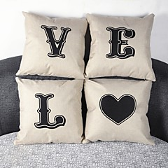 Bielizna / Syntetyczny Pokrywa Pillow,Słowa i cytaty Przypadkowy