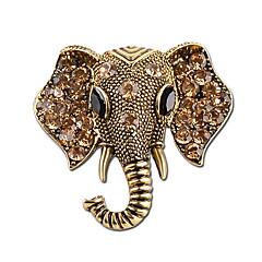 Fashion Jewelry Bohemian Elephant Crystal Brooches Women's Fashion