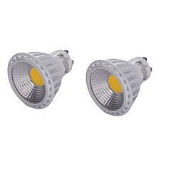 YouOKLight 2PCS GU10 6W COB LED Dimmable Spotlight White/Warm White 450lm 6000K/3000K (AC110-120V)