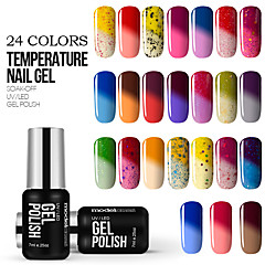 New Beauty Colorful Color Changing with Temperature UV Gel Polish Nail Varnish 7ml