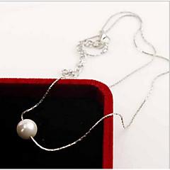 Κολιέ Απομίμηση Μαργαριτάρι μαργαριτάρι σκέλη / Coliere cu Perle Κοσμήματα Καθημερινά / Causal Μοντέρνα Μαργαριτάρι / Ασήμι Στερλίνας
