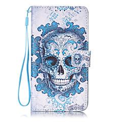 Skull Pattern PU Leather Lanyard phone Case For LG K7 LG LS775/STYLUS2