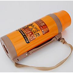 2000ML Stainless Steel / Hard Alumina Water Bottle Orange / Yellow Single Travol