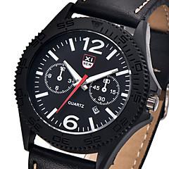 XINEW watch men relogios masculinos de luxo marcas famosas military sport Leather Calendar quartz Wrist watch