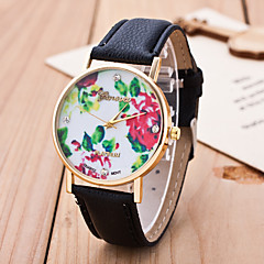 Reloj Mujer Women's Fashion Casual Wrist Watch Top Selling Ladies Watches Beautiful Rose Dial Pu Leather Band