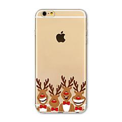 Για Θήκη iPhone 7 / Θήκη iPhone 7 Plus / Θήκη iPhone 6 Ημιδιαφανές / Με σχέδια tok Πίσω Κάλυμμα tok Χριστούγεννα Μαλακή TPU AppleiPhone 7