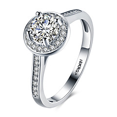 lureme 18kRPG Cubic Zirconia Band Annulus Engagement Ring