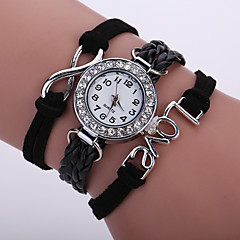 Women's Unisex Fashion Watch Wrist watch Bracelet Watch Quartz Colorful Imitation Diamond PU Band Vintage Sparkle Bohemian CasualBlack Strap Watch