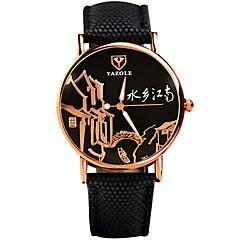 YAZOLE Mujer Reloj de Moda Reloj de Pulsera Reloj Casual Cuarzo / PU Banda Cool Casual Negro Azul Plata Rojo AmarilloNegro Amarillo Rojo
