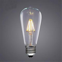 8W E26/E27 LED-glødetrådspærer ST64 8 SMD 5730 580 lm Varm hvid Kold hvid Gul Dekorativ Vekselstrøm 220-240 V 1 stk.
