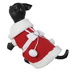 Gatos / Perros Vestidos Rojo Ropa para Perro Invierno Lazo Navidad