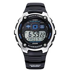 Αντρικά Αθλητικό Ρολόι Ψηφιακό Χρονόμετρο Plastic Μπάντα Καθημερινά Μαύρο Μαύρο / Γκρι