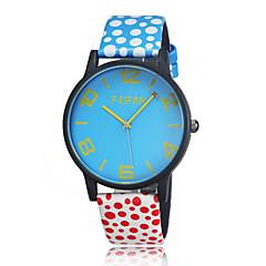 Mujer Reloj de Moda Cuarzo / Piel Banda Casual Negro Blanco Rojo Blanco Azul Oscuro Azul Claro