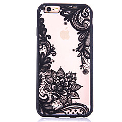 Mert Minta Case Hátlap Case Virág Kemény Akril Apple iPhone 7 Plus / iPhone 7 / iPhone 6s Plus/6 Plus / iPhone 6s/6 / iPhone SE/5s/5