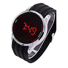 Unisex Sportuhr digital LED / Touchscreen Silikon Band Bettelarmband Schwarz Marke
