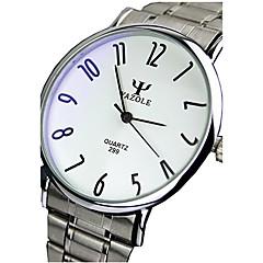 Pareja / Unisex Reloj de Vestir / Reloj de Moda / Reloj de Pulsera Cuarzo / Acero Inoxidable Banda Casual Plata Marca