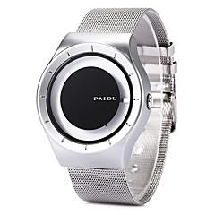 Herre Kjoleur Modeur Armbåndsur Unik Creative Watch Quartz / Rustfrit stål Bånd Sej Sort Hvid Sølv Sort Sort/Sølv Hvid/Sølv