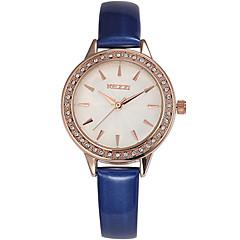 KEZZI Mulheres Relógio de Moda Relógio de Pulso Quartzo / Couro Banda Legal Casual Preta Branco Azul Vermelho Branco Preto Vermelho Azul