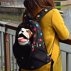 ネコ / Dog キャリーバッグ ペット用 キャリア 携帯用 / 高通気性 オックスフォード ブラック / グリーン / ブルー / ピンク