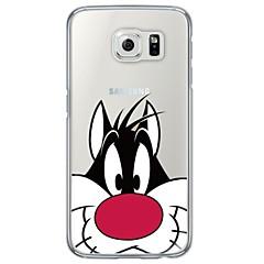 漫画の猫パターンサムスンgalaxys7エッジS7 S6エッジS6のエッジのソフト超薄型TPUバックカバープラスS6 S5 S4