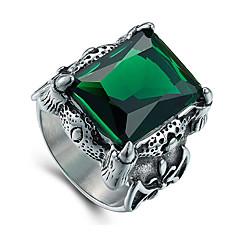 Herre Statement-ringe Mode Vintage luksus smykker kostume smykker Ædelsten Titanium Stål Smykker Til Daglig Afslappet Julegaver