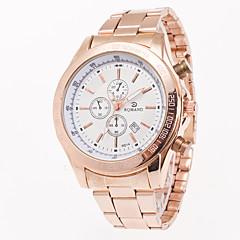 Pánské Módní hodinky Náramkové hodinky Křemenný Kalendář Nerez Kapela Přívěsek Běžné nošení Růžové zlato Bílá Černá Modrá