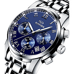 Herr Frackur / Armbandsur Quartz Kalender / Kronograf / Vattenavvisande Rostfritt stål Band Fritid Silver Stämpla