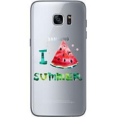Na Samsung Galaxy S7 Edge Wzór Kılıf Etui na tył Kılıf Owoc Miękkie TPU Samsung S7 edge / S7 / S6 edge plus / S6 edge / S6