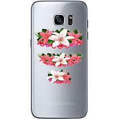 용 Samsung Galaxy S7 Edge 패턴 케이스 뒷면 커버 케이스 꽃장식 소프트 TPU Samsung S7 edge / S7 / S6 edge plus / S6 edge / S6