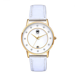 AIBI® Women's Watch Imitation Diamond Design Calendar Water Resistant/Water Proof Dress Watch White Golden Wrist Watch For Women With Watch Box