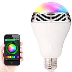 E27 Bluetooth Control Smart Music Audio Speaker LED RGB Color Bulb Light Lamps(AC85-265V)