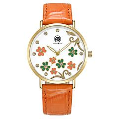 pentru Doamne Ceas Elegant / Ceas La Modă / Ceas de Mână Quartz Rezistent la Apă Piele Autentică Bandă Vintage / Cool / Casual Orange