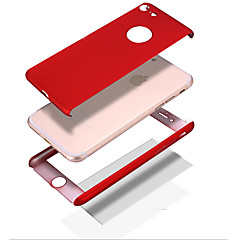 Para iPhone 8 iPhone 8 Plus Case Tampa Antichoque Other Corpo Inteiro Capinha Côr Sólida Rígida PC para Apple iPhone 8 Plus iPhone 8