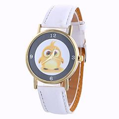 Dames Modieus horloge Kwarts / Digitaal Maanfase PU Band Vintage / Snoep / Bedeltjes / Cool / Vrijetijdsschoenen Zwart / Wit Merk