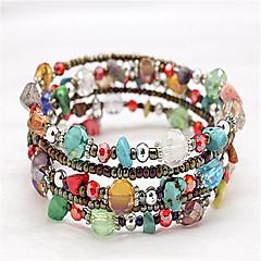Bracelet Wrap Bracelet Crystal / Alloy Geometric Fashion Party / Daily Jewelry  Hunter Green / Gray1pc Christmas Gifts