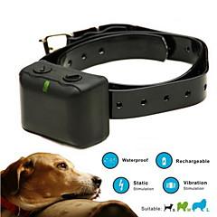 Koirat bark Collar / Koiran treenauspannat Anti Bark / Vedenkestävä / Ladattava / Tärinä Tukeva Maalattu Muovi / TPU
