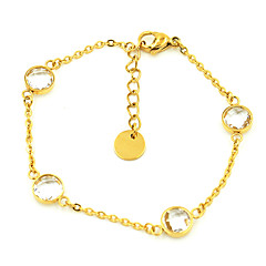 Fashion Water Drop Crystal Stainless Steel Charm Bracelets