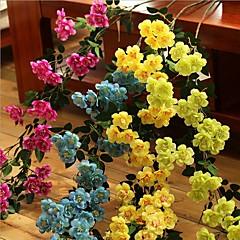 Set of 1 PCS 1 şube Polyester Güller Masaüstü Çiçeği Yapay Çiçekler Long 35.4(inch)