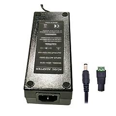 12v 120w xinyuanyang® 10a 3round pines de alimentación de CA adaptador de 5,5 x 2,1 mm dc energía para la tira de luz led - negro (100 ~ 240v)