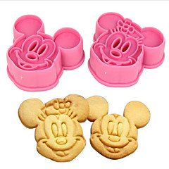 Kitchen Bakeware Baking Tools 3D Cartoon Mouse Cookie Cutter and Cookie Stamps