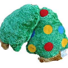 Cute Squeaking Fleece Christmas Tree Dog Toy for Pets