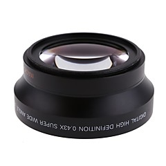 67mm 0.43x vidvinkel linse makro objektiv for canon opprører t5i t4i T3i 18-135mm for Nikon 18-105 mm objektiv kit