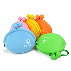 Gatto Cane Ciotole & Bottiglie Animali domestici Ciotole e alimentazione Portatile Arancione Giallo Verde Blu Rosa